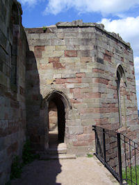 Stafford Castle, view of front door