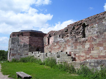Stafford Castle, view of west wing