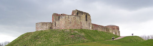 Stafford Castle, view from eastern earthworks