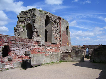Stafford Castle, interior