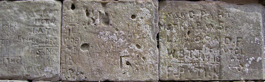 Stafford Castle, century old graffiti