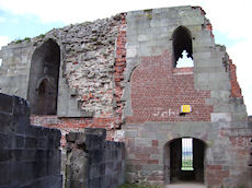 Stafford Castle east wall
